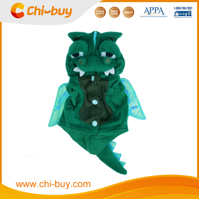 Cute Dogs Cat Dinosaur pretty Costumes Clothes Apparel Green Color