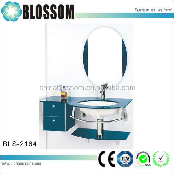 China Wholesale Corner Wash Basin wall mounted Glass Basin