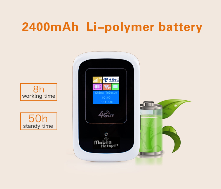 4G LTE pocket mobile wifi router with sim card slot,Cat 3,10 users,2400mAh battery,factory OEM LT10