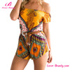 Fashion Bohemia Printed Pattern Short Romper Jumpsuit Dress Stitching Design