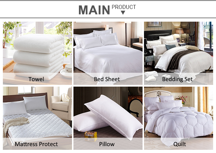 Custom hotel bedding collection quilt king size 40S 100% cotton fabric goose down feather duvet