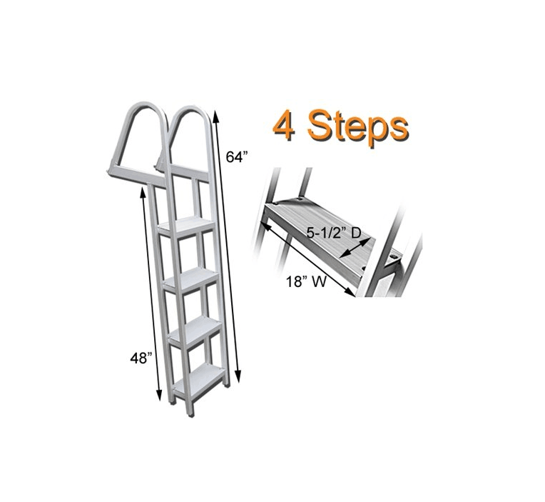 Amazon hot selling 3 steps folding boat ladder factory directly