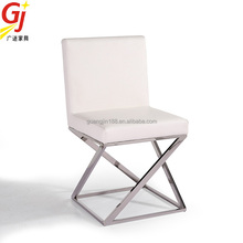 modern stainless steel legs dining chair