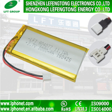 Factory free-pollution rechargeable 804077 3.7v 3000mah lipo battery for electric bicycle