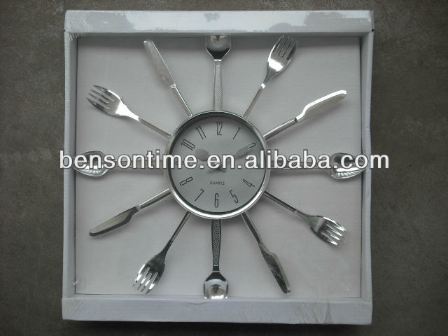 decorative kitchen wall clock plastic design