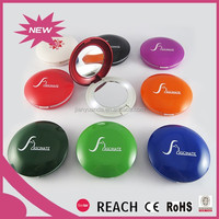 Beautiful round compact mirrror with led lights/plastic pocket makeup mirror with lights