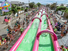 Giant slide inflatable slip and slide/slide slip for adults
