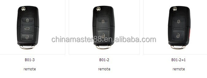 3 pcs with different B01 model remote keys for KD900 Key Programmer