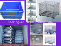 collapsible pallet container storage cage