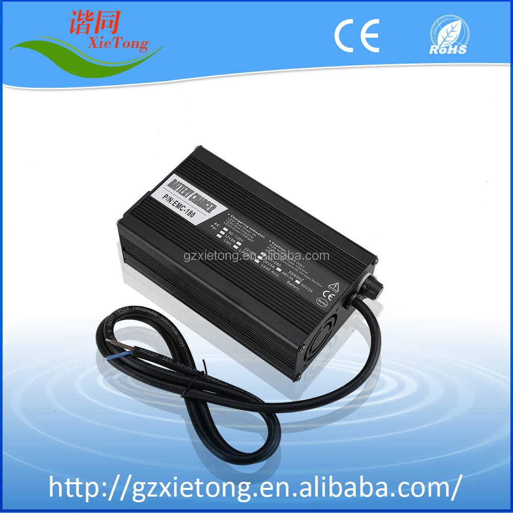 24V5A Lithium lon portable car battery charger with CE and ROHS