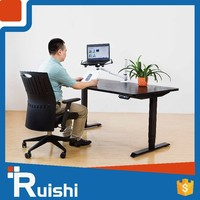 Ruishi brand chinese office furniture modular executive desk adjustable small standing computer desk