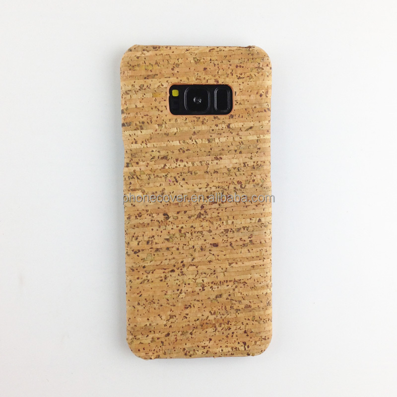 Mobile phone accessories,custom design mobile phone case for Samsung Galaxy S8,cork wood style