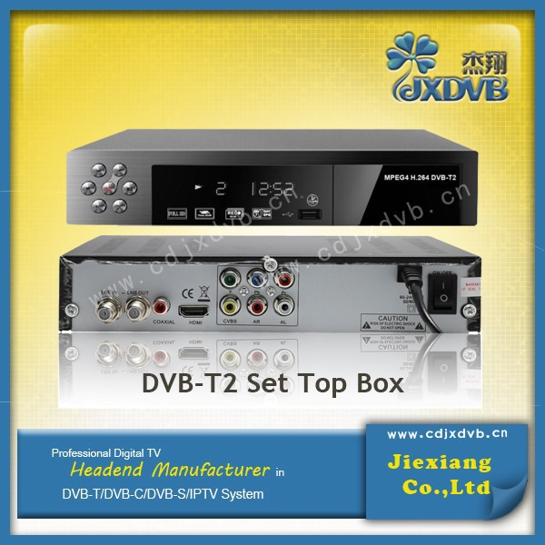 2016 dvb-t2 digital receiver set top box mpeg4/h.264 freeview TV player with hd or scart for European