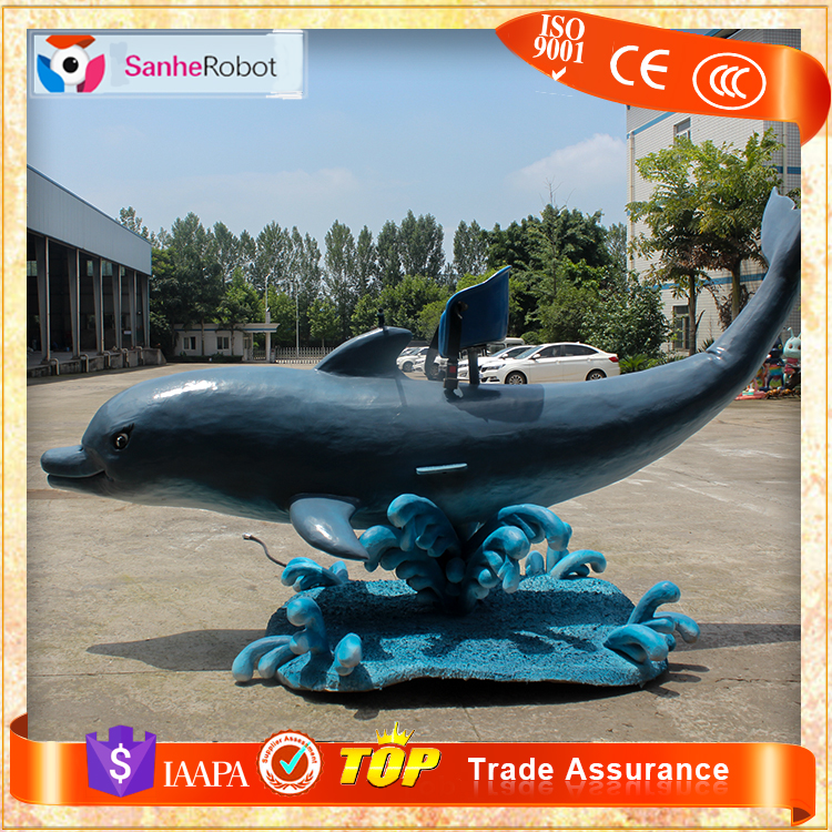 Amusement L=3.5m dolphin electric children trader used rides for sale