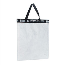Eco recyclable silk screen printing two handled custom tyvek shopping bag