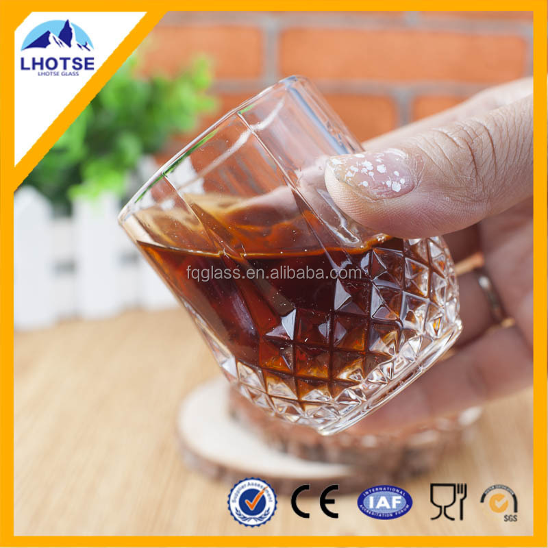 3oz Wholesale Clear Drinking Glass Shot Glass With Diamond Bottom