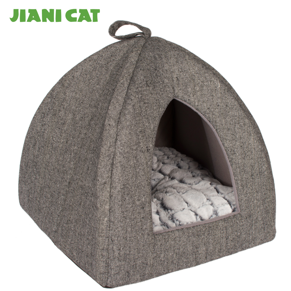 pv plush fabric memory foam pet accessories dog bed house