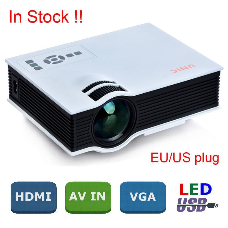 New Original UC40 Mini LED Korean / Russian / Portuguese / Spanish Cheap Holographic Mini Projector By Salange