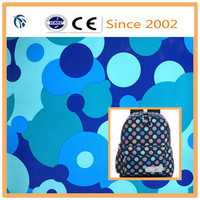 400D high elastic school bag round dot printed pvc coated oxford fabric