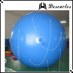 Sky blue 4m diameter custom made inflatable folating helium balloon for advertising