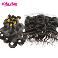 Befa Hair top quality pure one donor hair body wave indian bundles virgin hair with frontals