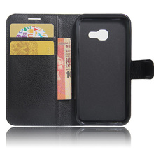 Book Leather Case For Samsung Galaxy A3 A5 A8 A9 Flip Wallet Protect Cellphone Folio Cover Case
