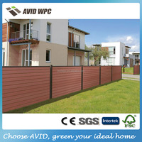 Popular designed composite garden fence/ wpc wood composite garden fence