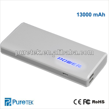 13000mAh Backup Double USB Battery Power Bank External Battery Charger
