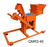 environmental small noise Portable strong QMR2-40 manual brick maker with raw earth