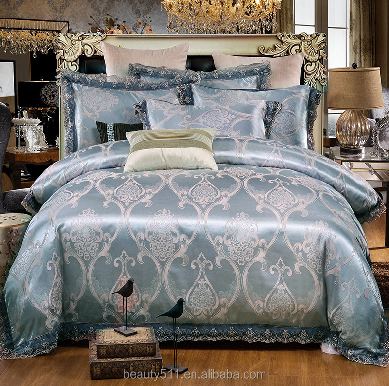 Luxury Tribute satin Pure nature bamboo fiber bedding sets bed sheet BSS28