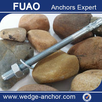 Zinc Plated,Galvanized carbon steel wedge anchor, wedge expansion anchor bolts