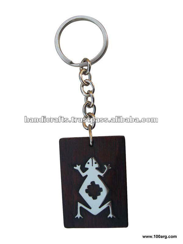 KEY HOLDER IN NICKEL SILVER AND WOOD