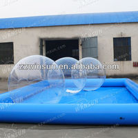 Customised CE inflatable balloon swimming pool