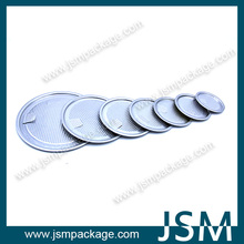 food grade aluminum airtight easy peel off lid for tin can