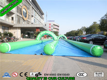 2016 Long singel/double lane slide the city /Good quality inflatable water slip n slide for adult