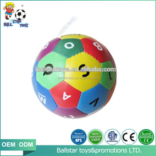 PU soft soccer ball toy/stuffed letter educational toy ball for baby outdoor