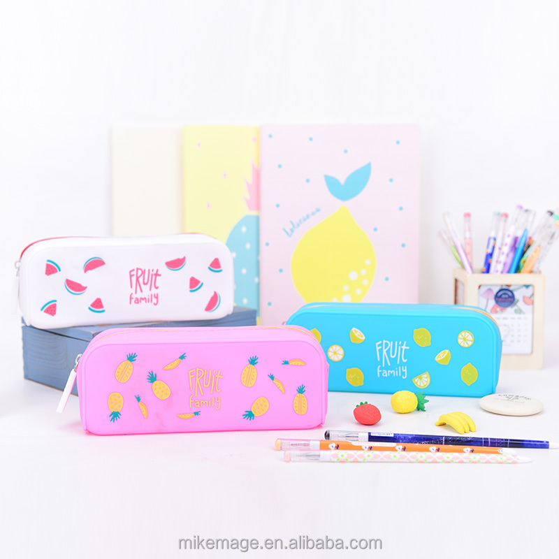 Languo colorful custom printed silicone pencil case