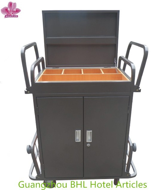 Hotel Room Housekeeping Linen Cart Cleaning Laundry Trolley
