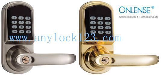 Professional zinc alloy high security smart home code locks with remote function