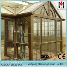 Building use house use toughened glass sunroom ceiling panels
