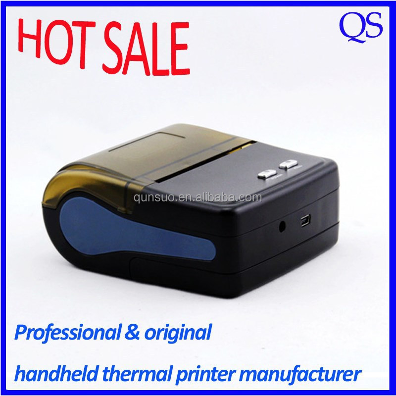 80mm Wirelesss Bluetooth Portable barcode label printer barcode sticker printer (QS-8001)