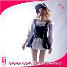 Sex Beer Girl Design Theme Party Costumes Blue Sexy Maid Costumes For Wholesale