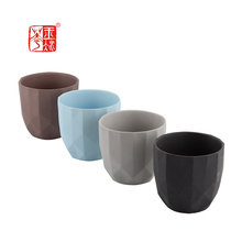 Angled Cutting Differing Color Available Mini Clay Ceramic Terracotta Flower Pot