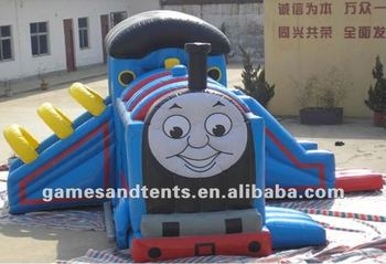 inflatable train castle,bouncy castle A3058