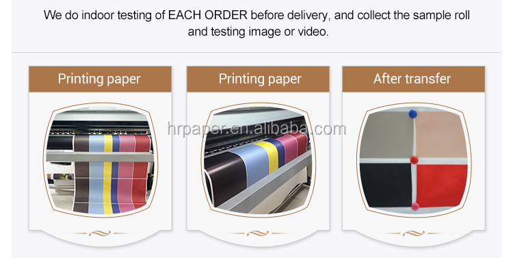 Anti Curl 1118mm 44'' 70gsm Sublimation Transfer Paper Roll For Textile