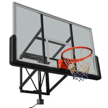 Basketball backboard vertical board with a basket attached