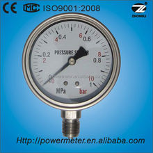 100mm all stainless steel bourdon u tube manometer for gas and oil