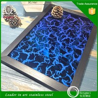 Foshan factory 201 304 mirror etching pvc coated stainless steel sheet for wall panel