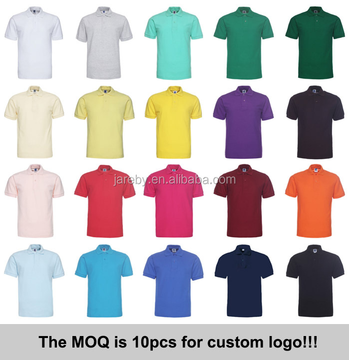 unisex no logo 60% cotton 40% polyester polo shirts custom