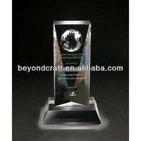 crystal trophy memento,glass awards